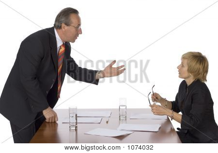 Business Meeting - Man Arguing
