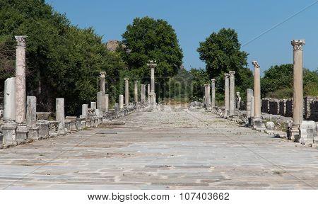 Arcadian Street In Ephesus Ancient City