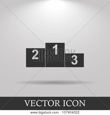 Pedestal. Flat Design Style Eps 10