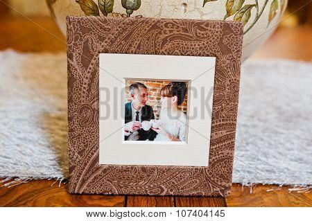 Textile Wedding Photo Book And Cd Box