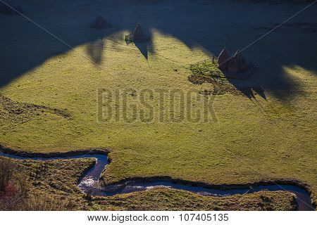 Aerial Hay Stacy