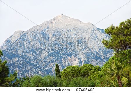 Mount Tahtali Picturesque View.kemer, Turkey.