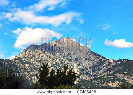 View Of The Mount Tahtali, Located Near Kemer, Turkey.