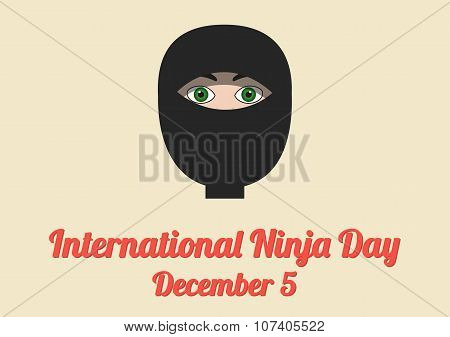Poster For International Ninja Day (december 5)