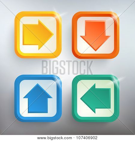 Arrows-set-of-design-elements-on-a-steel-background