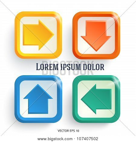 Arrows-set-of-design-elements-on-a-white-background-is-insulated