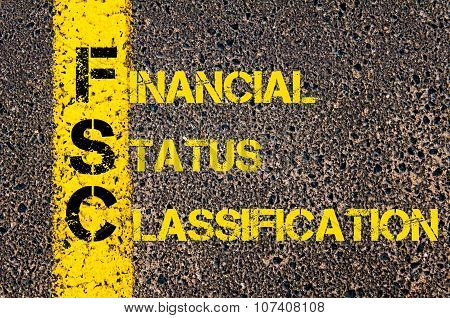 Business Acronym Fsc As Financial Status Classification