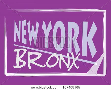 New York Bronx Purple Abstract