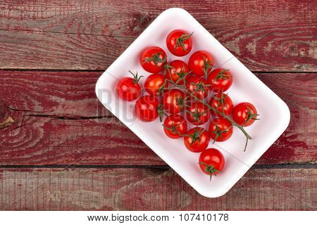 Cherry Tomatoes In The Blister Pack