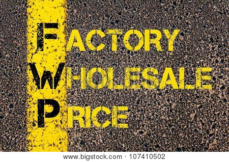 Business Acronym Fwp As Factory Wholesale Price