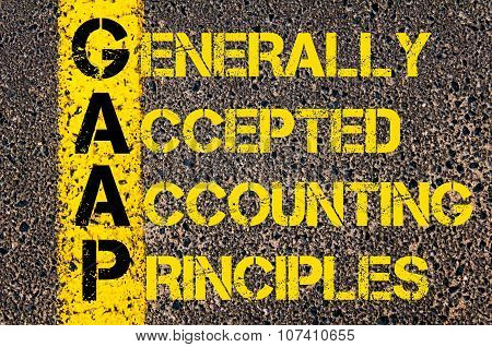 Business Acronym Gaap As Generally Accepted Accounting Principles