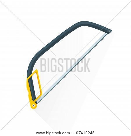 Vector Flat Construction Hacksaw Illustration Icon.