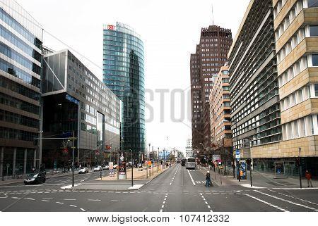 Berlin, Germany - December 31 2006. Potsdamer Strasse View