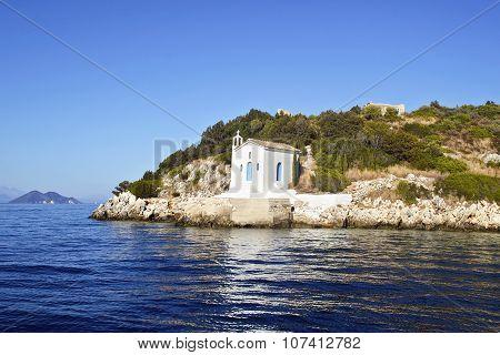 saint Andrew chapel in Ithaca Greece