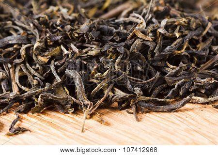 Green Tea Dry Leaves.