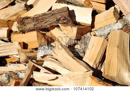 Firewood In The Yard