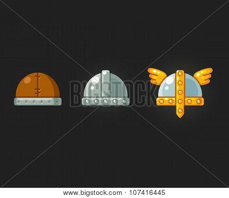 Helmets Icon Set