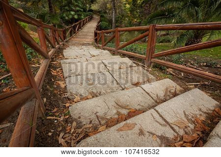 Stairs And Wooden Bridge