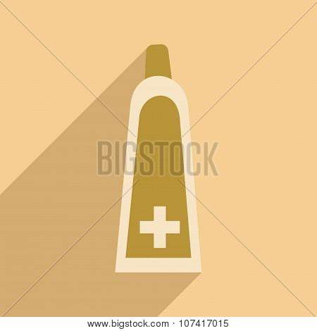 Flat with shadow icon and mobile application medical gel