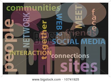 People social media network communication speech