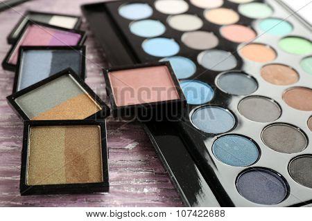 Make up set closeup