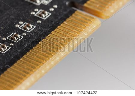Close-up of a video card for a computer
