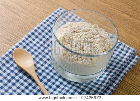 Delicious Yoghurt With Porridge Oats In A Cup
