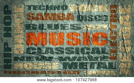 music relative words cloud