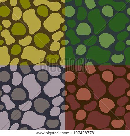 Pattern Khaki Set
