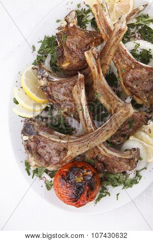Grilled Beef Rib on a Plate