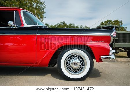 Red And Black 1956 Studebaker Commander Sedan Classic Car