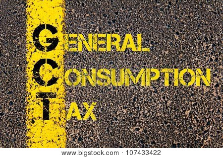 Business Acronym Gct As General Consumption Tax