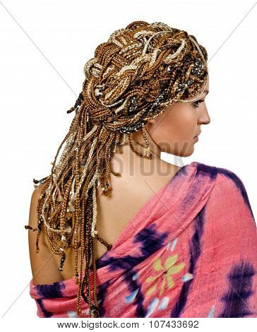 African hairdo from back