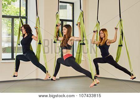 Antigravity yoga women group