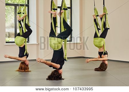 Antigravity yoga exercise
