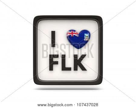 I Love Falkland Islands Sign