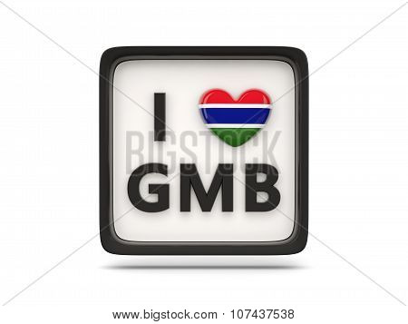 I Love Gambia Sign