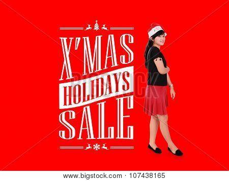 X'mas Holiday Sale Ad Illustration