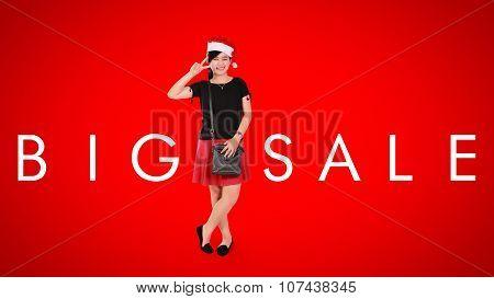 Big Sale, Christmas Ad Background