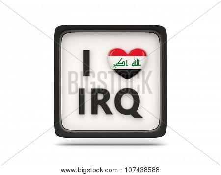I Love Iraq Sign