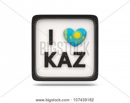 I Love Kazakhstan Sign