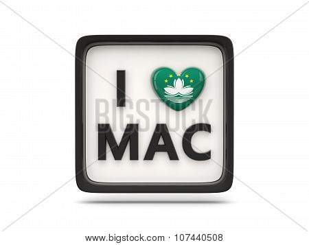 I Love Macao Sign