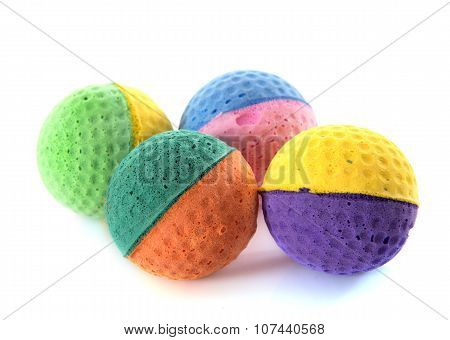 Four Cat Ball Toys