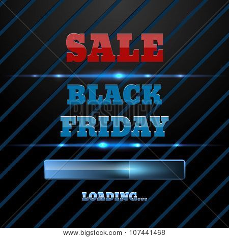 Black Friday Sale Loading Bar Background. Design Template For Ecommerce Business Website Eps 10 Vect
