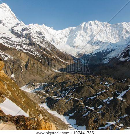 annapurna Base Camp In Nepal.