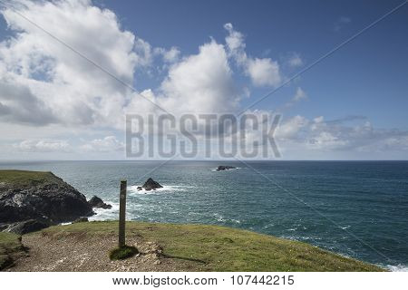 Vibrant Summer Landscape Image Of Trevose Head In Cornwall England