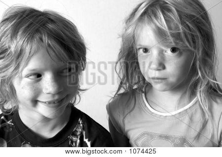 Mischievous And Skeptical Twins