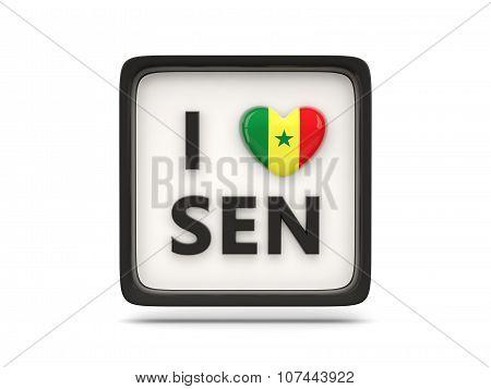 I Love Senegal Sign