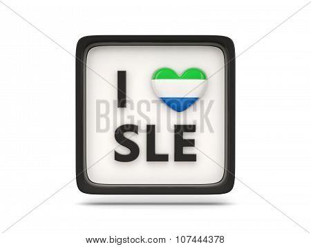 I Love Sierra Leone Sign