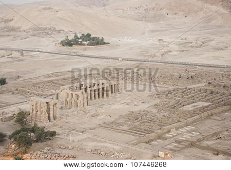 Aerial View Of The Ramasseum In Luxor